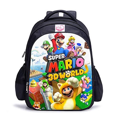 Mochila Mario Bros Sonic Boom de 16 Pulgadas para niños, Mochilas Escolares, Mochila de Libro de Juegos de Dibujos Animados, Mochila Escolar Diaria, Regalo-Color de la Foto