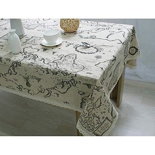 N/X Tischdecke Weltkarte Hochwertige Spitze Tischdecke Dekorative Elegante Tischdecke Leinen TischdeckeTischdecken