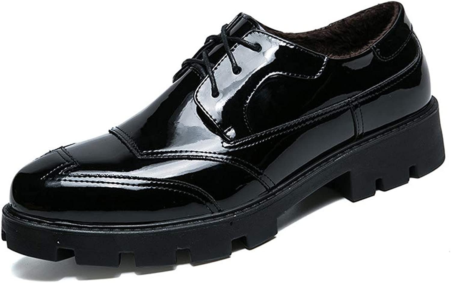 TYX-TT Men'S Casual shoes Leather Business Casual shoes Dress Wedding Men'S Leather shoes 'Black'