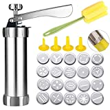 Spritz Cookie Press Gun Kit, Stainless Steel Biscuit Press Cookie...