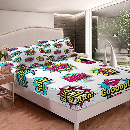 Hip Hop - Juego de sábanas de cultivo callejero para niños y niñas, adolescentes, diseño de graffiti, juego de cama de pared con diseño de graffiti, decoración de habitación, 3 hojas, tamaño doble