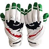 Primal Gloves Smiley Joker Football Receiver Gloves (White, Small)