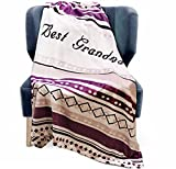DORR GIFT Grandma Blanket Throw - Grandmother Present Idea for Birthday, Christmas, Valentines Day for Your Sweet Nan. Nana Throw Blanket Gifts , 280 GSM Fleece 50x60 in (Purple)
