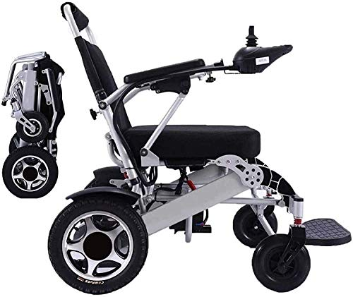 HEZHANG Electric Wheelchair,Foldable Lightweight Deluxe Power Mobility Aid Wheel Chair Dual'250W' Motors Dual Battery Portable Electric Wheelchair