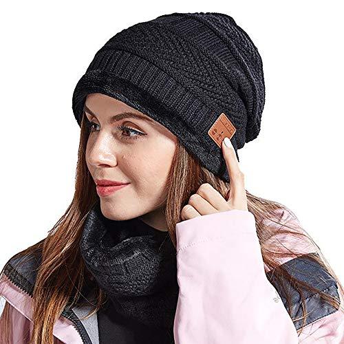 Preisvergleich Produktbild AMY Bluetooth Beaniehut,  HD Stereo Bluetooth Kopfhörer Drahtlose Intelligente Beanie Headset Built-In Abnehmbarer HD-Stereo-Lautsprecher Und Mikrofon Für Männer Und Frauen