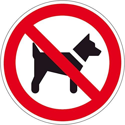 Verbotszeichen - Mitführen von Hunden verboten - Aluminium - Ø 30 cm