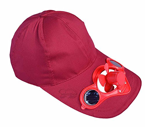 Solaration 7001 Claret-red Fan Hat for Baseball, Golf and Sports Watching