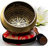 Silent Mind ~ Juego De Cuencos Tibetanos ~ Diseño Antiguo ~ Con Mazo De Superficie Doble...
