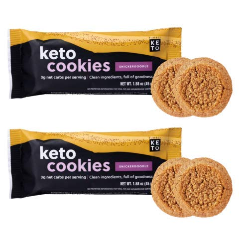 Perfect Keto Cookies - Low Carb Snacks & Sweets, No Added Sugar and Gluten-Free Cookies – Keto Food for Healthy and Keto-Friendly Diet - 12 Pack (24 Count), Snickerdoodle