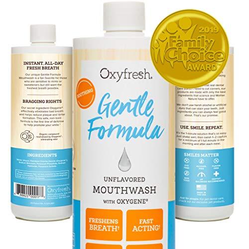 Oxyfresh Gentle Formula Unflavored Mouthwash – Perfect for Sensitive Gums & Teeth | Dye, Mint,...
