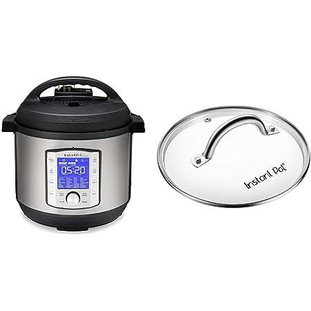 Instant Pot Duo Evo Plus 9-in-1 Electric Pressure Cooker, Sterilizer, Slow Cooker, Rice Cooker, Grain Maker, 8 Quart, 10 Programs & Tempered Glass lid, Clear 10 Inch (26 cm) 8 Quart