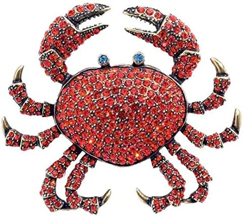 Heidi Daus SIGNED QUEEN CRAB CRYSTAL PIN LARGE SWAROVSKI COLLECTOR'S WOW DEAL!