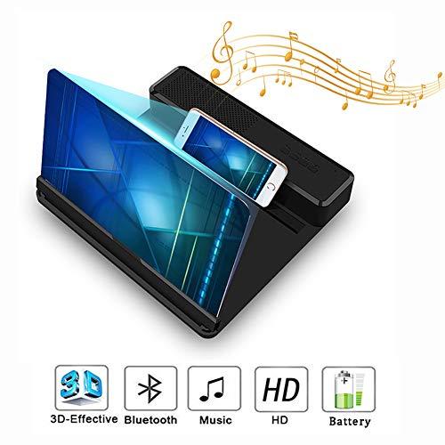 HLSUSAN Telefon Projektor Bildschirm mit Sprecher 3D Handy-Bildschirmvergrößerer HD Falten Smartphone Bildschirmlupe für das Ansehen von Filmvideos