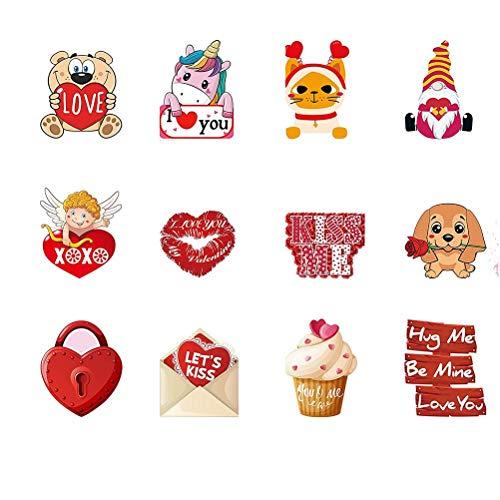 Dan&Dre 12 letreros de San Valentín para decoración de San Valentín, estacas de San Valentín, decoración de patio o jardín