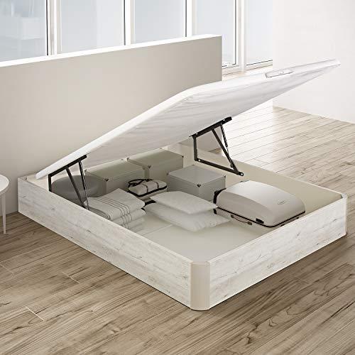 PIKOLIN, canapé abatible de almacenaje Color Gris Glaciar 135x190, Servicio de Entrega Premium Incluido