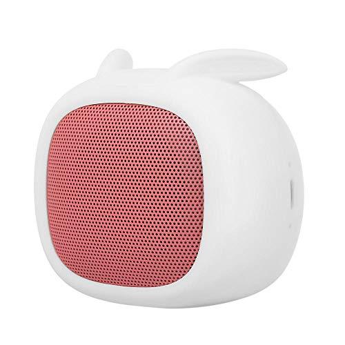 Altavoz Bluetooth Smalody Mini Altavoz Portátil Estéreo Caja De Sonido Barra De Sonido Lindos Altavoces Bluetooth con Ranura para Micrófono TF para iPhone Samsung Huawei Xiaomi-White
