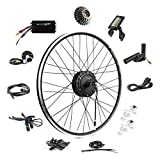 EBIKELING 36V 500W 700C Geared Waterproof Electric Bike Kit - Ebike Conversion Kit - Electric Bike Conversion Kit (Rear/LCD/Thumb)
