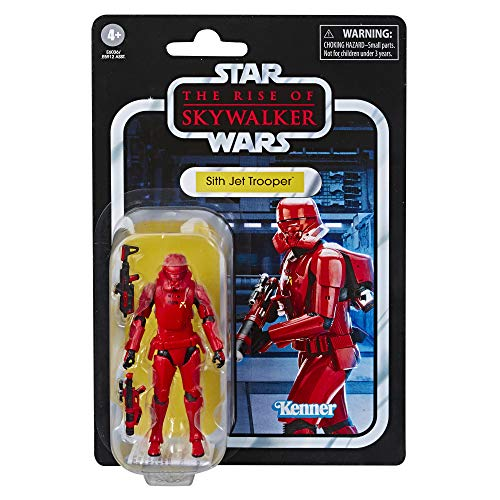 STAR WARS The Vintage Collection The Rise of Skywalker Sith Jet Trooper Toy, 3.75 Scale Action Figure, Kids Ages 4 & Up