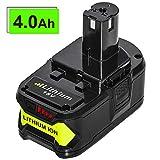 4.0Ah Replace for Ryobi 18V Lithium Battery Ryobi ONE+ P102 P103 P104 P105 P107 P108 P109 P122 Cordless Tool