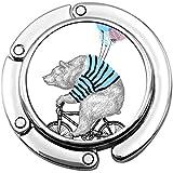 Monedero Gancho Bear Ride Bicicleta Globo Bolso Plegable Mesa Percha-Bolso Percha Colección-Escritorio Ganchos