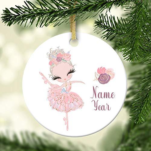 Alicert5II ballerina-gepersonaliseerde versiering - kleine danser-keramiek porselein feestdag versiering kerstjaar gewoonte versiering blondine