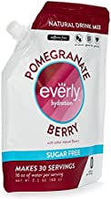 Everly Hydration - Drink Mix Powder, Sugar Free, Natural Sweeteners (Stevia & Organic Erythritol), No Calories, Keto Diet, Water Flavoring and Water Enhancer – Pouch, 30 servings (Pomegranate Berry)