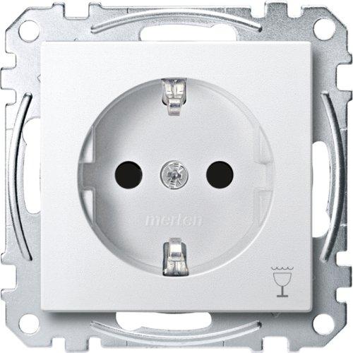 Merten MEG2353-0419 SCHUKO-stopcontact met aanduiding Vaatwasser, BRS, stekker, poolwit, systeem M