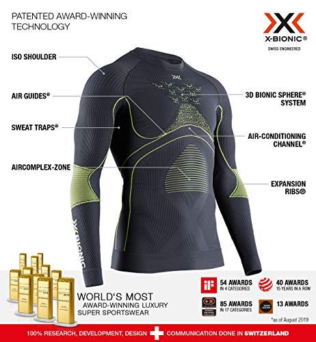 X-Bionic Camiseta Ml C/Redondo Energy Accumulator 4.0 Hombre Gris, M (EA-WT06W19M)