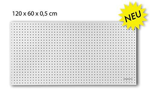 Werkzeugwand aus Holz - 120 x 60 x 0,5 cm - Lochung Ø7 mm - MDF weiß lackiert