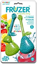 FRUZER Silicone Water and Tea Infusion Dippers | Adds Flavor for Infusing Water or for Diffusing Loose Tea | BPA Free | Add Citrus Fruit, Berries, Mint Leaves, Tea Leaves and More | Pack of 2