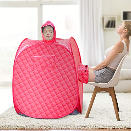 SEAAN Portable Home Sauna Personal Steam Sauna Tent for Weight Loss and Detox SPA Sauna Wrap with 2.6L Steamer Foldable Chair Remote Control Timer Sauna for 2 Person Full Body Leg Relaxation