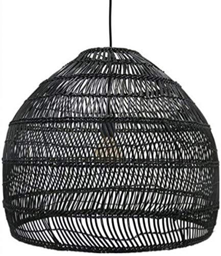 Candelabro Ratán Bambú Mimbre Luces Colgantes Nórdico Moderno Simple Iluminación para el hogar Lámpara Colgante Dormitorio Baño Cocina Sala de Estar Café Bar Restaurante Luz Colgante Lámpara de t