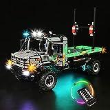 icuanuty Kit de Iluminación LED para Lego 42129, Kit de Luces Compatible con Lego Technic Camión de Trial 4x4 Mercedes-Benz Zetros (No Incluye Modelo Lego)