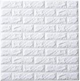 3D Brick Wallpaper, White Brick Pattern Wall Stickers, Soundproofing Wallpaper for Living Rooom Bedroom, 60 * 60CM by YTAT(5)