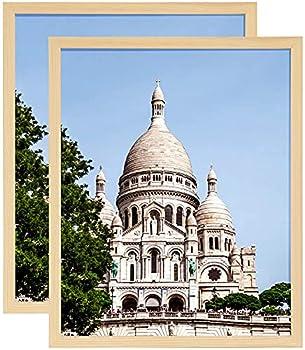 Koonmi 12x16 Poster Frame Natural Wood Frame for Movie Poster Prints Artwork  Set of 5