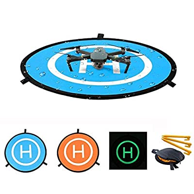 ApexOne 55cm/21.65'' Luminous Day&Night Waterproof Drone Landing Pad for DJI Mavic Air / Mavic Pro / Platinum / Spark /Phantom 3 4 Pro Inspire Parking Apron Fast Fold Taking Off Mat