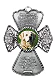 BANBERRY DESIGNS Pet Remembrance - Cross Picture Christmas Ornament for Dog - Memorial Poem Loss of Pet Gift