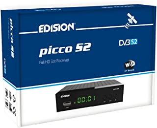 Edision PICCO S2 Full HD Ricevitore satellitare (1 X DVB-S2, Wi-Fi OnBoard, USB, HDMI, Scart, S/PDIF, IR occhio, lettore d...