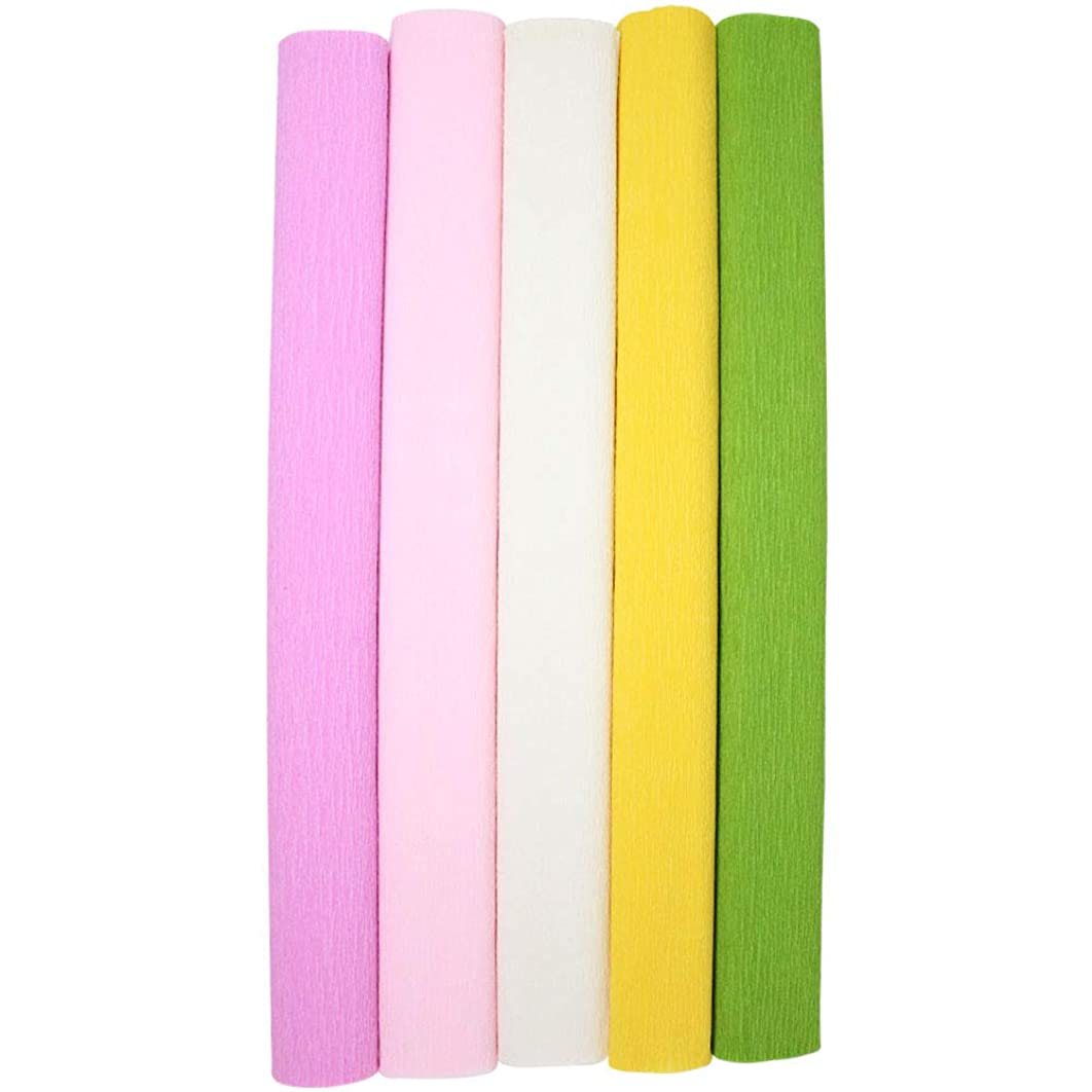 Just Artifacts Premium Crepe Paper Rolls - 8ft Length/20in Width (5pcs, Color: Tropical)