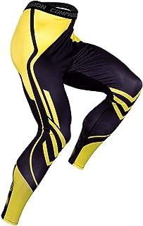 RuiyouQQ Compression Leggings Hombre Deportiva Secado Rapido Pantalones Compresi/ón Running Apretadas Tights Larga Base Mallas Compresivas Correr Fitness Ejercicio