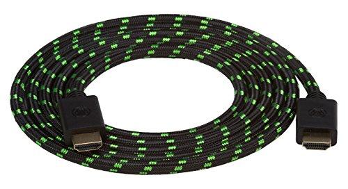 Snakebyte HDMI Cable 4K/3D/1080P 2M - Black/Green (Xbox One/PS4/PS3/Nintendo Wii U) [Importación...