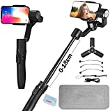 FeiyuTech Vimble 2S 3-Axis Smartphone Gimbal Stabilizer(Vimble 2 Updated) Compatible with iPhone 11 X 8 7/Samsung Note 8 Note7 with18 cm Extendable Handheld, Object Tracking,Time-Lapse (Black)