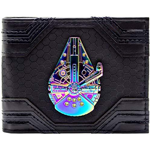 Star Wars Millennium Falcon schillerndes Abzeichen Schwarz Portemonnaie