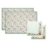 THUN ® - Set 2 tovagliette e 2 tovaglioli - Linea Coniglio Magico - Cotone - tovagliette 50 x 35 cm - tovaglioli 42 x 42 cm