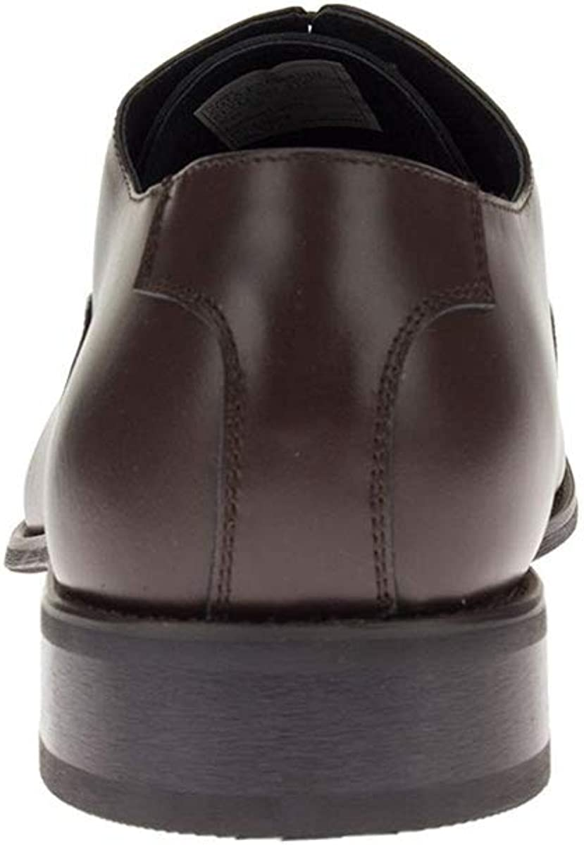 DTI Men's Leather Dress Shoes Oxford Park Avenue Lace-Up Cap-Toe Z3TC Brown