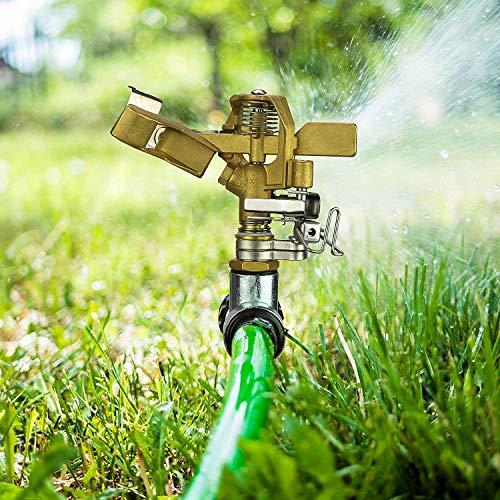 LATERN Impulse Garden Sprinkler, 360 Degree Heavy Duty Impact Lawn Sprinkler Irrigation Sprayer with Metal Spike for Watering Plants Flowers Veggies