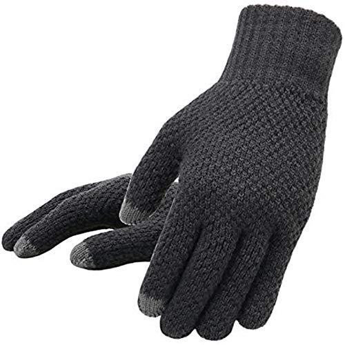 Handschoenen winter heren gebreide handschoenen touchscreen heren handschoenen dikke warme wol kasjmier effen kleur heren zakelijke handschoenen herfst