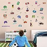 OOTSR Pegatinas de Pared Game, Vinilos de Pared Decorativos, Pegatinas Pared Decorativas Murales Adhesivos de Pared para Niños Salon Habitación Dormitorio Wall Stickers