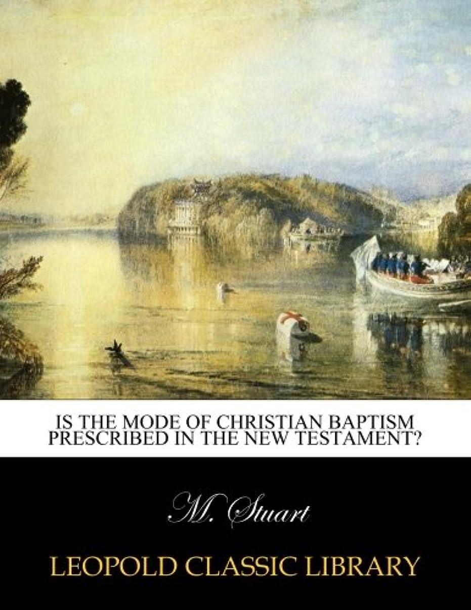 ホップ天気かもめIs the mode of Christian baptism prescribed in the New Testament?