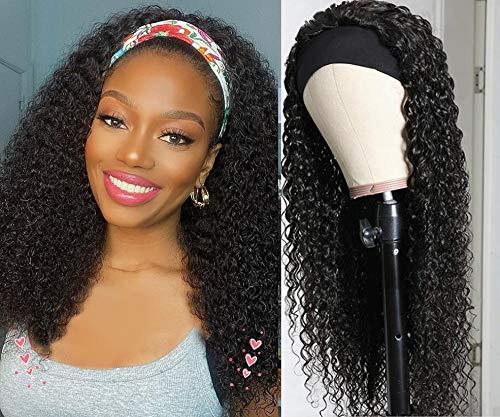 Curly All items free Free Shipping Cheap Bargain Gift shipping Headband Human Hair Wigs virgin 10A Brazilian F